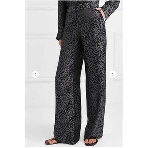 EQUIPMENT-Arwen silk-blend jacquard wide-leg pants